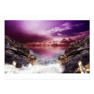 Felsiger Seeeinlaß Postkarte