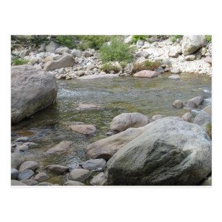 Felsiges Wasser Postkarte