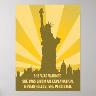 Feminist wurde sie gewarnt, dass sie Freiheit Poster