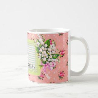 Feministische rosa Vintage Tapeten-Tasse Tasse