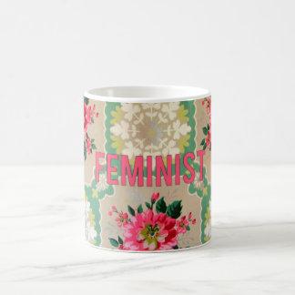 Feministische Vintage Tapeten-Tasse Tasse