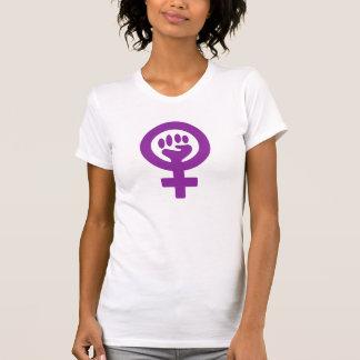 Damen-Kleidung mit Feminismus-Motiven