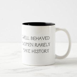 Feministisches Tassen-Geschenk Zweifarbige Tasse