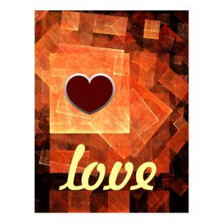 Fenster-helle Liebe-Postkarte Postkarte