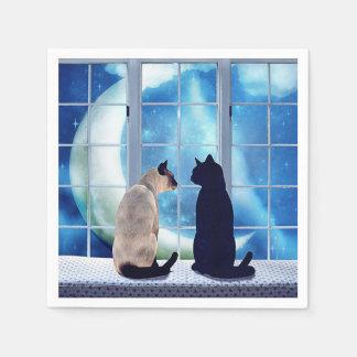 Fenster-Katzen Servietten