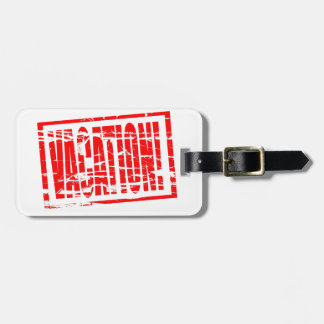 Ferienroter Gummipass-Briefmarkeneffekt Adress Schild