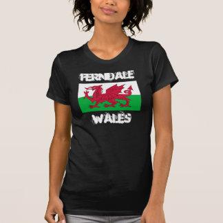 Ferndale, Wales mit Waliser-Flagge T-Shirt