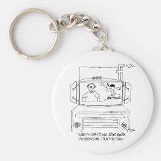 Fernlastfahrer-Cartoon 7395 Schlüsselanhänger