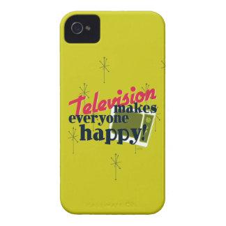 Fernsehen macht jeder glücklich! Ernte-Gold iPhone 4 Cover