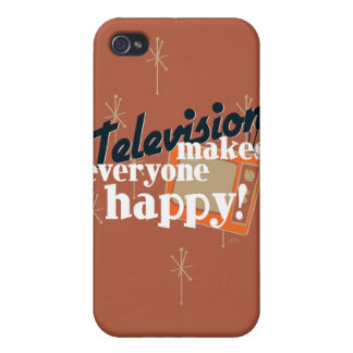 Fernsehen macht jeder glücklich! Kupfernes Brown Schutzhülle Fürs iPhone 4