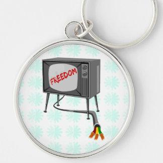 Fernsehfreiheit schnitt die Schnur Schlüsselanhänger