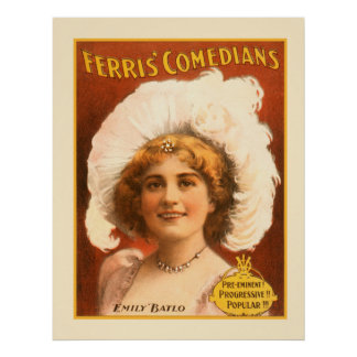 Ferris Kunst-Schauspieler-darstellendes Vintages Poster