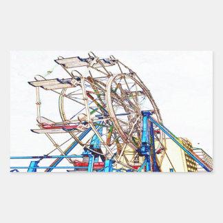 Ferris Rad-Kreide Kontur durch Shirley Taylor Rechteckiger Aufkleber