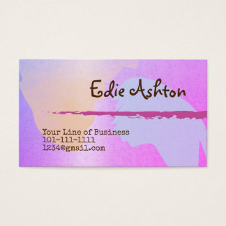 Fertigen Sie beide Seiten des Lavendel-Aquarells Visitenkarte