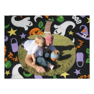 Fertigen Sie Foto-glücklichen Halloween-Kürbis Foto