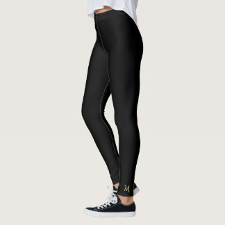 Feste einfache schwarze leggings
