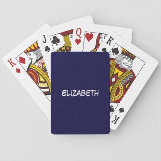Fester Marine-Blau-blauer Hintergrund, Spielkarten