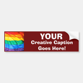 Fester Stolz - Gay Pride-Flaggen-Nahaufnahme Autoaufkleber