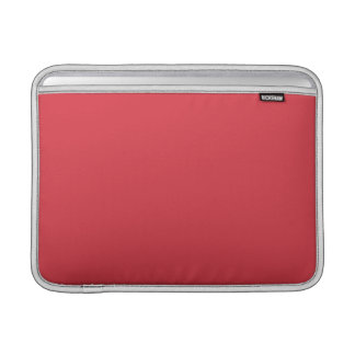 Festes Mohnblumen-Rot MacBook Air Sleeve