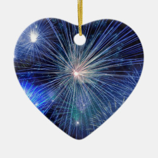 Festival-Blaumode der Feuerwerke helle Keramik Ornament