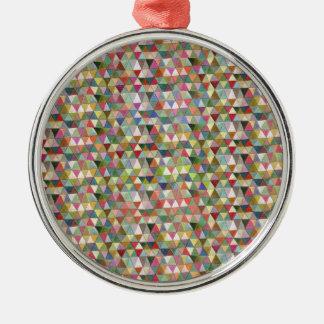 Festival Rundes Silberfarbenes Ornament