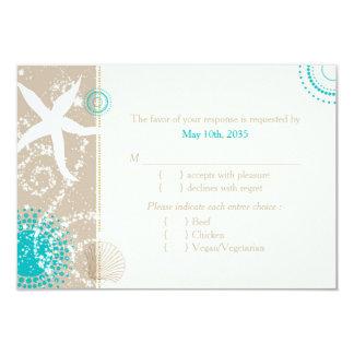 Festlich Chic-Strand-Hochzeit UAWG (Menü-Wahl) 8,9 X 12,7 Cm Einladungskarte