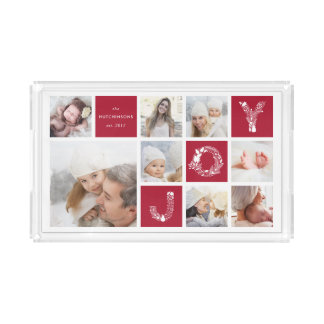 Festliche Art | Feiertags-Foto-Collage Acryl Tablett