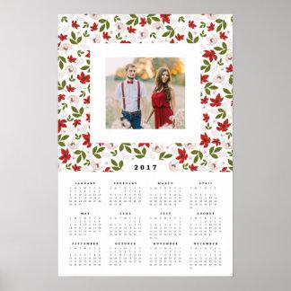 Festliche Blumen16x24 2017 jährlicher Poster