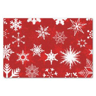 Festliche Weihnachtsschneeflocken Seidenpapier