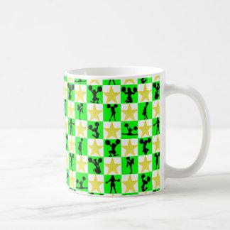 FESTLICHER GRÜNER CHEERLEADER-WEIHNACHTSentwurf Kaffeetasse