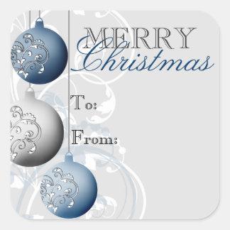 Festlicher Weihnachtsgeschenk-Umbau-Aufkleber Quadratischer Aufkleber