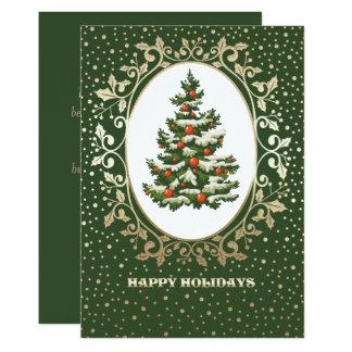 Festliches Weihnachtsbaum-Entwurf Weihnachtsflache 12,7 X 17,8 Cm Einladungskarte