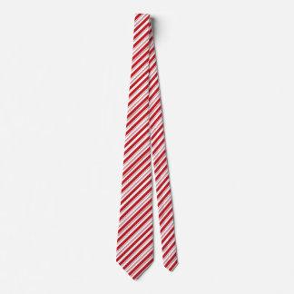 Festliches Weihnachtsrote und weiße gestreifte Personalisierte Krawatten