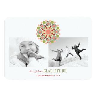 Festliga fröhliche kleine Weihnachtsgrüße Inbjudni 11,4 X 15,9 Cm Einladungskarte