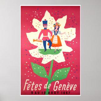 Fêtes de Genève 1957 Poster