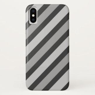 Fette graue Streifen iPhone X Hülle