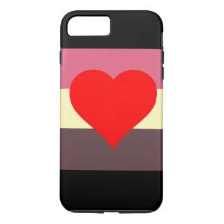 Fette Liebhaber-Stolz-Flagge iPhone 8 Plus/7 Plus Hülle