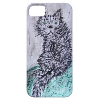 Fette schwarze Katze Schutzhülle Fürs iPhone 5