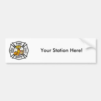 Feuer-Abteilungs-Erntedank-Logo Autoaufkleber