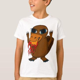 Feuer, das Platypus atmet T-Shirt