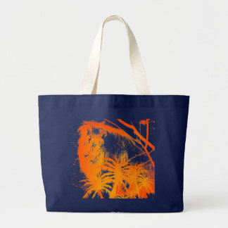 Feuer-Löwe-Tasche Jumbo Stoffbeutel