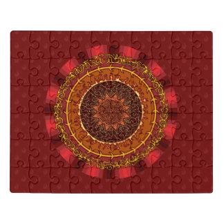Feuer-Mandala-Acryl-Puzzlespiel Puzzle