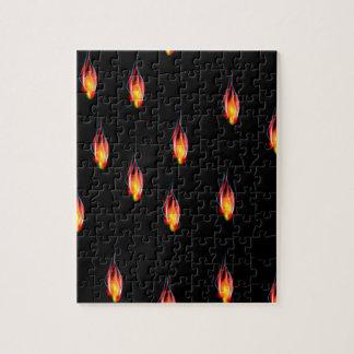 Feuerflammen Puzzle