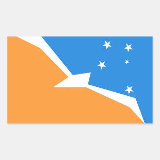 Feuerland-Flagge. Patagonia, Argentinien Rechteckiger Aufkleber