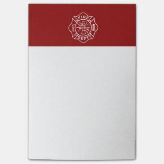 Feuern Sie Abteilung kundenspezifische Posten-it® Post-it Klebezettel