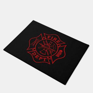 """Feuern Sie Malteserkreuz-Fußmatte Abteilung - 18"""" Doormat"""