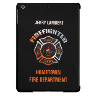 Feuerwehr-Chrom-Namen-Schablone iPad Air Hülle
