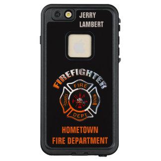 Feuerwehr-Chrom-Namen-Schablone LifeProof FRÄ' iPhone 6/6s Plus Hülle