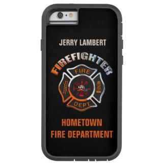 Feuerwehr-Chrom-Namen-Schablone Tough Xtreme iPhone 6 Hülle
