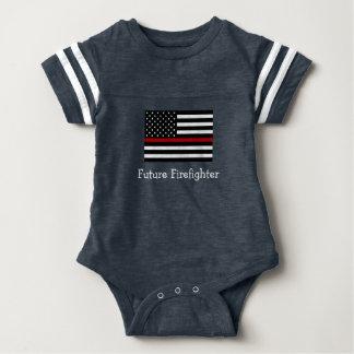 Feuerwehrmann-Baby-Fußball-Bodysuit Babybody